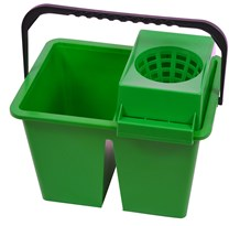 Bucket, Freedom Twin, Double Sided, 10Ltr, Green