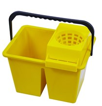 Bucket, Freedom Twin, Double Sided, 10Ltr, Yellow