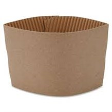 Cups, Paper, Card Sleeves, 8oz, 2000