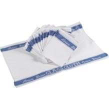 Cloths, Glass, Linen Union, Blue, 10 Pack