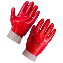 Gloves, PVC Dipped, Knit Wrist, Pair