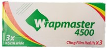 """Catering, Cling Film, WrapMaster, 450mm x 300m (18"""") 3 Rolls"""