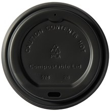 Cups, Lids, Sip Slit, Domed, Black, 8oz, 1000