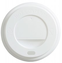 Cups, Lids, Sip Slit, Domed, White, 8oz, 1000