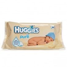 Babycare, Huggies Pure Wipes, 6 x 64