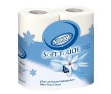 Toilet Rolls, Nicky Soft, 220 Sheet, 2Ply, White, 40 Rolls