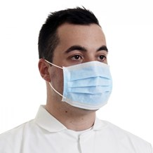 Safety Wear, Masks, Disposable, 3Ply, Blue, 50