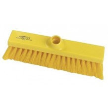 Brush, Hygiene, Sweeping Broom, Med Crimped, Yellow, 280mm