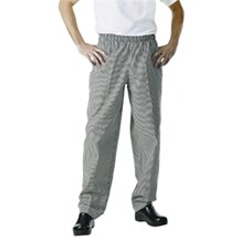 Catering Wear, Baggy Trousers, Sml Chk Black, Medium
