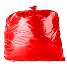 Refuse Sacks, Red, 18x29x38, 200 Bags
