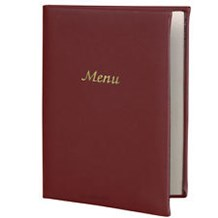 Catering, Menu Covers, A4, Burgundy