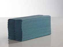 Handtowels, C-Fold, 1Ply Blue,                 23 x 33cm, 2880 Sheet