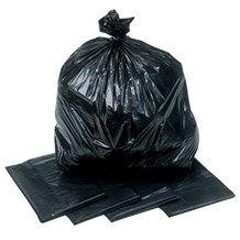 "Refuse Sacks, Black, HD, 170g, 18x29x39"", 200 Bags"