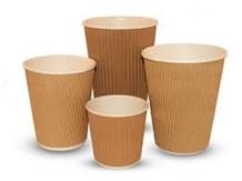 Cups, Paper, Hot, Kraft Ripple, 16oz/453ml., 500