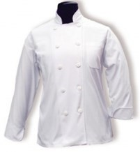 Catering Wear, Chef Jacket, Press Stud, White,