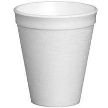 Cups, Foam, White, 12oz, 355ml, 1000
