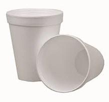Cups, Foam, White, 8oz, 1000