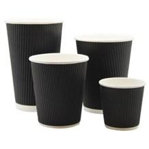 Cups, Paper, Hot, Black Ripple, 16oz/453ml, 500