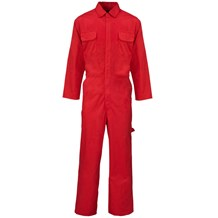 Overalls, Polycotton, Red, Extra Large