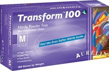 Gloves, Nitrile, Aurelia, Transform100, P/F, 100 Gloves