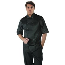 Catering Wear, Chefs Jacket, Vegas, Short Sleeve, Black, S