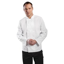 Catering Wear, Chefs Jacket, Vegas, Long Sleeve, White, Large