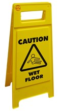 "Sign, A Frame, ""Caution Wet Floor"""