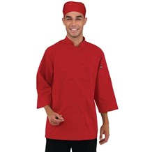 Catering, Wear, Chef Jacket, 3/4 Sleeve, Red, Lge