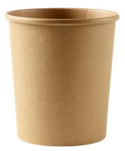 Catering, Soup Container, HD, Kraft, 960ml/32oz, 500
