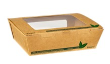 Catering, Salad Box, Tuck Top Compostable, Kraft, 700ml, 200