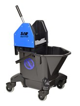 Bucket, Mop/Wringer Unit, SYR Ebony, 20 Litre, Blue
