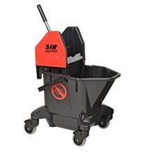 Bucket, Mop/Wringer Unit, SYR Ebony, 20 Litre, Red