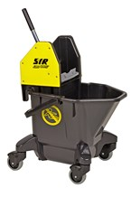 Bucket, Mop/Wringer Unit, SYR Ebony, 20Ltr, Yellow