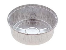 "Catering, Foil, 615/826 Round Tray, 8"" Dia 1"" Deep, 500"
