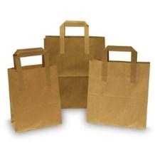 """Bags, Takeaway, Kraft, SOS, Carriers, Lge. 10x15.5x12"""", 250"""