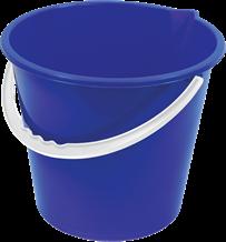 Bucket, Plastic, Value, Blue, 10 Ltr