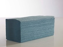 Handtowels, V-Fold, 1Ply Blue,              3600 Sheet