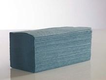 Handtowels, V-Fold, 1Ply Blue,              3600 Sheet