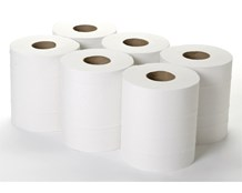 Handwipes, C/Feed, Embos., 2Ply White, 150m x 190mm, 6 Rolls