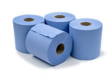 Handwipes, C/Feed Std. 2Ply Blue, 150m x 190mm, 6 Rolls