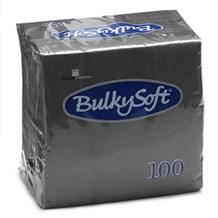 Napkins, BulkySoft, 24cm, 2Ply, Black, 4000