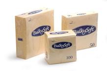 Napkins, BulkySoft, 24cm, 2Ply, Buttermilk, 4000