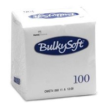 Napkins, BulkySoft, 24cm, 2Ply, White, 4000