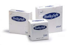 Napkins, BulkySoft, 40cm, 3Ply, White, 1000