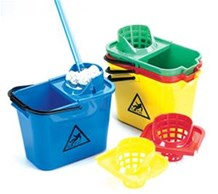Bucket, Mop, Plastic, PRO. 14Ltr, Red