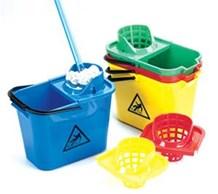 Bucket, Mop, Plastic, PRO. 14Ltr, Yellow