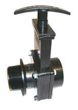 Prochem Gate Valve, Black ABS. EN00711