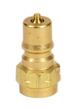 "Prochem Male Quick Connect Plug, Brass, 1/4"", GU00104"
