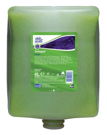 Soap, Hand, DEB Solopol Lime , 4 x 4Ltr