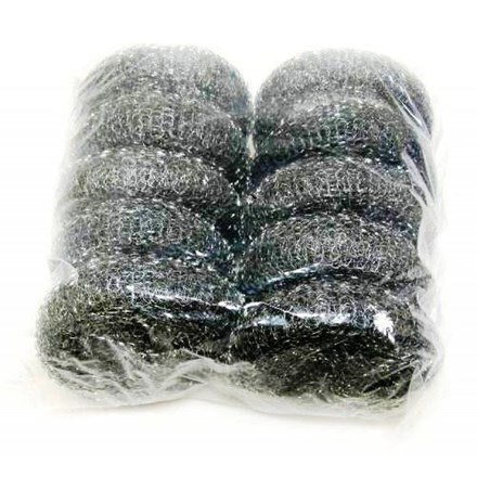 Scourers, Steel, Galvanised, Large, 10 Scourers